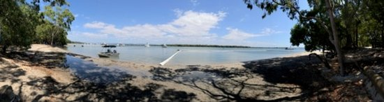 South Stradbroke Island, Australia: Panorama of view from campground