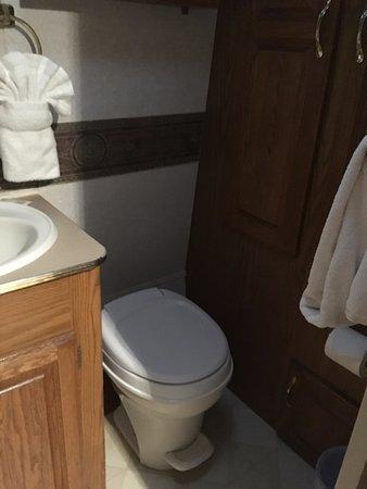 Sunset Cove Beach Resort: RV toilet