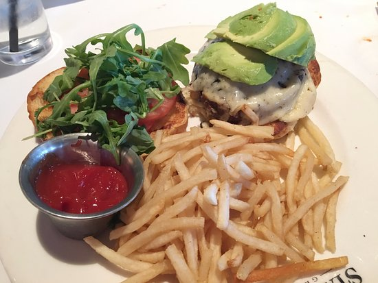 Columbia, MD: California Burger with french fries