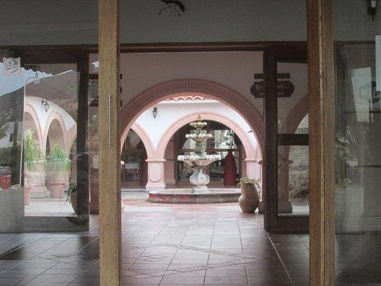 Catavina, Mexico: courtyard