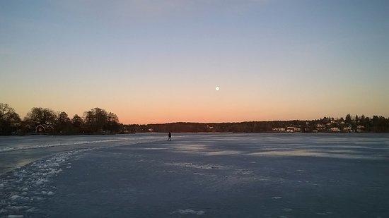 Sigtuna, Sweden: Frozen lake