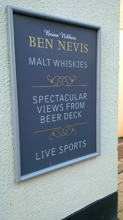 Ben Nevis Bar and Restaurant: Outside sign