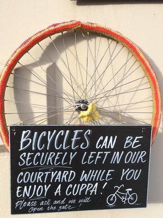 Sturminster Newton, UK: Cyclists welcome.