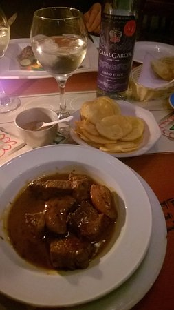 1920 PORTUGUESE RESTAURANT: Trinchado - Beef cubes with a Balsamic reduction sauce.