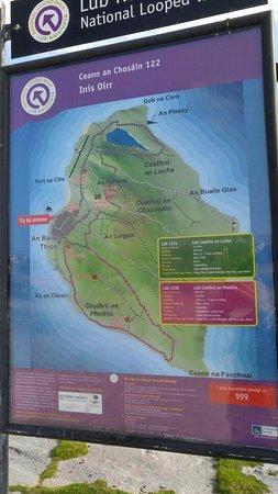 Doolin, Irlandia: 이니스오어섬 지도