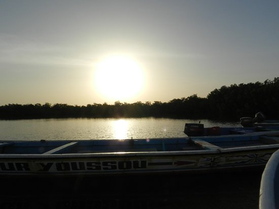 Toubakouta, Senegal: un couché de soleil sur la mangrove