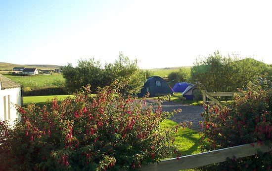 Evie, UK: view of our campsite