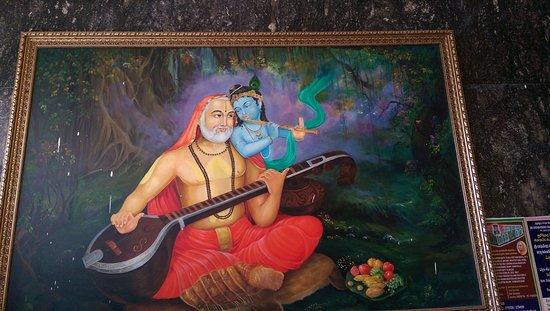 Mantralayam, India: Painting at entrance
