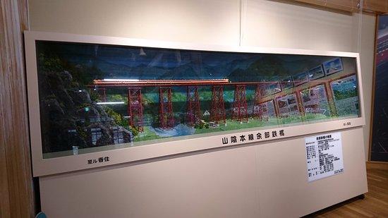 Kami-cho, Ιαπωνία: 道の駅の一角にあるかつての鉄橋のジオラマ