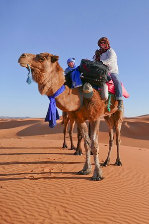 Tafraoute, โมร็อกโก: The Camel Safri in the Desert will be a trip we will remember for the rest or our life.