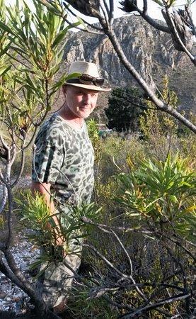 Porcupine Hills Guestfarm: walking in Fynbos area above cottages