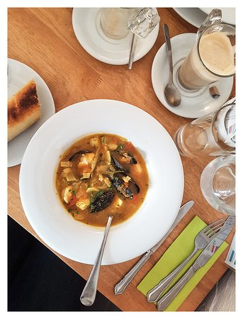 Budleigh Salterton, UK: Fish Soup - Excellent!