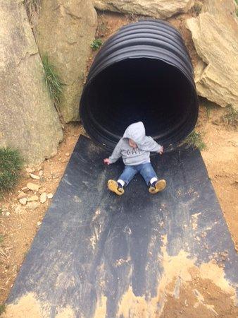 Fairview, NC: Slide landing