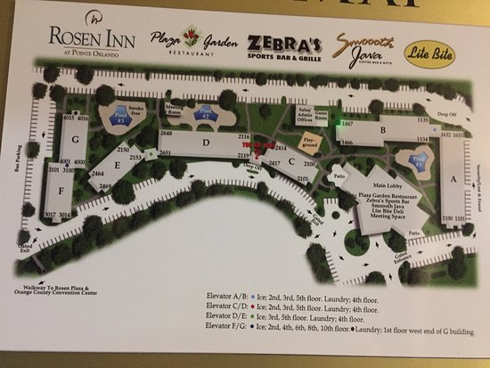 Map Of Pointe Orlando Rosen Inn at Pointe Orlando   Picture of Rosen Inn at Pointe