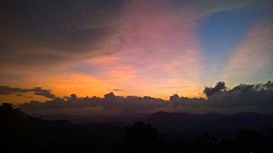 Central Province, Sri Lanka: Sunset from top of the Hanthana Mounten.