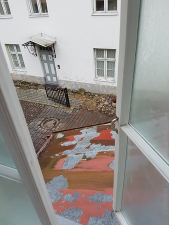 Olematu Ruutel Guest House : Вид не самый впечатляющий, но зато слышно перезвон рядом стоящего собора Александра Невского