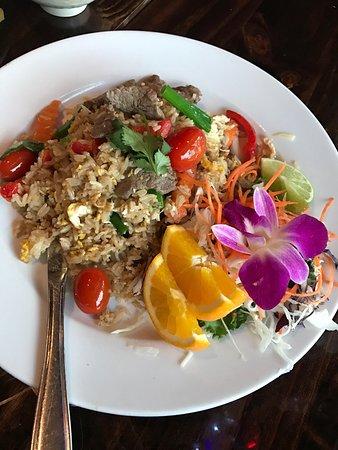 Malakor Thai Cafe: Beef Thai Fried Rice -yum!!