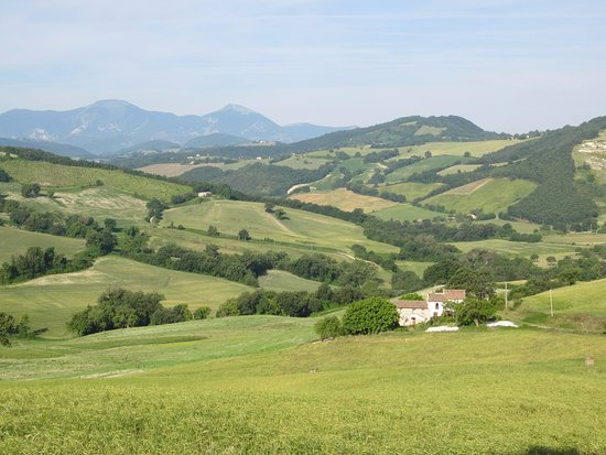 Arcevia, Italy: Ligging casa tussen de landerijen