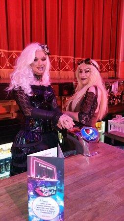 Elgin Hotel Blackpool: 2 of Funny girls barmaids