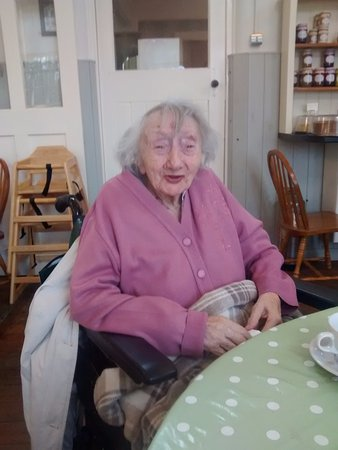 The Old School Tea Room: Star of the show - my 101 year old friend