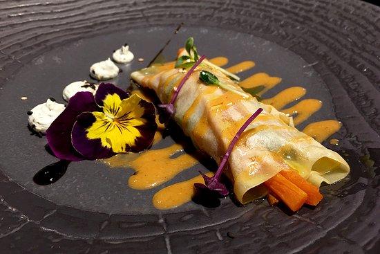 Restaurante Miramar: Canelón de marisco con langostino