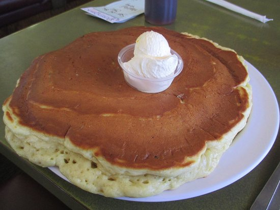 Mounds View, MN: Extremely large pancake with a dallop of butter