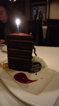 Steakhouse 55: Chocolate cake