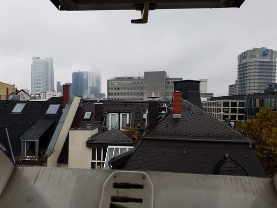Pension Aller: view from our attic apartment