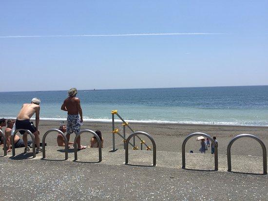 Shirahama Beach: La gente es muy relajada