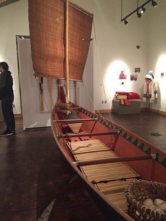 Suquamish, Ουάσιγκτον: Canoe with cedar sail