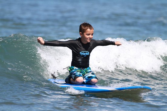 Goofy Foot Surf School, Inc: Private lessons for our guests under 9yrs old provide a fun and safe learning experience!