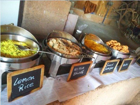 Guhantara: Breakfast spread