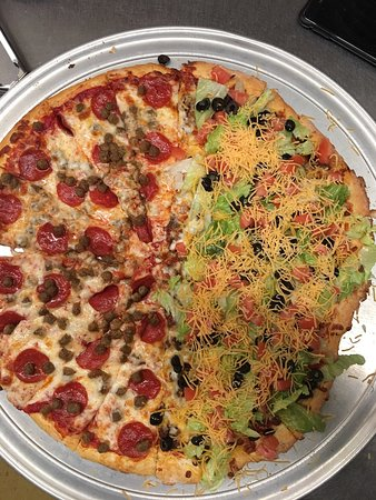 Taco pizza @Pizza Factory in Mauldin SC