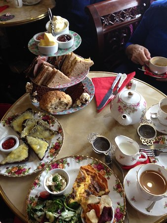 Pembridge, UK: A table full of delectable treats....