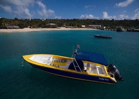 West End Village, Anguilla: Great shots of the Dive boat