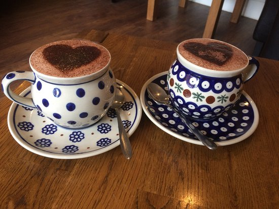 Tiverton, UK: a pair of hot chocolate drinks