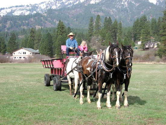 Garden Valley, ID: We offer wagon rides in the summer, choose from a lunch or Dutch oven dinner ride