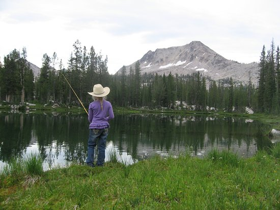 Garden Valley, ID: With over 140 high lakes, the Sawtooths are a fisherman's dream