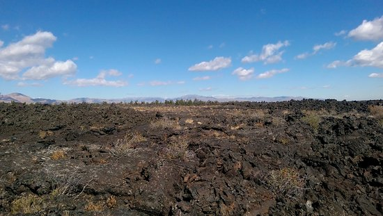 Arco, ID: Looking over the stark landscape of ancient lava flows.