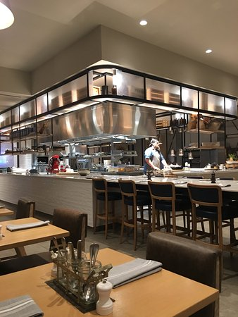 Restaurant With Open Kitchen Picture Of Charlotte Marriott City Center Charlotte Tripadvisor