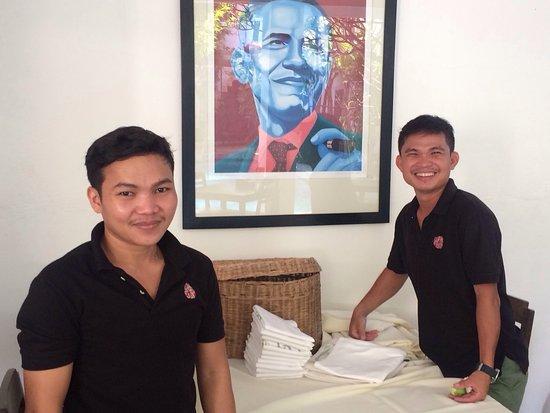 Rambutan Resort - Siem Reap: Freundliche Mitarbeiter bieten guten Service- immer mit einem Lächeln😚