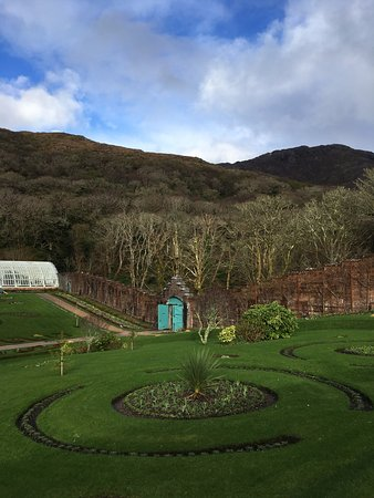 Kylemore, Ireland: walled garden