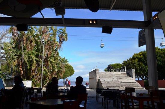 Parque das Nações: Les cabines vue D un bar