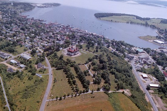 Aerial photo of Lunenburg, NS