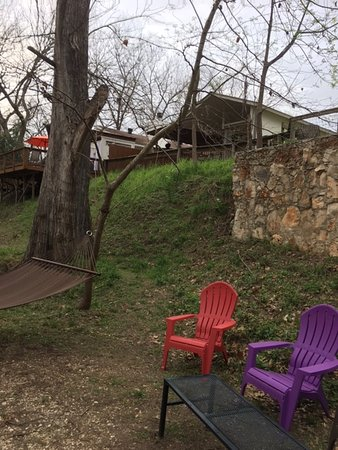 Wimberley, TX: view of cabin 11 from the creek