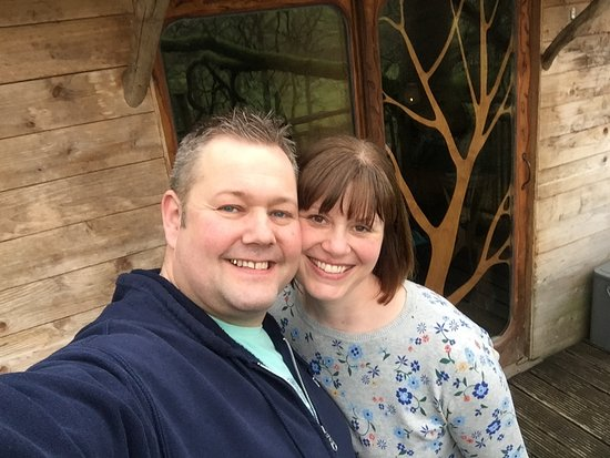 Machynlleth, UK: Me and my beautiful wife Annie celebrating my birthday at the treehouse