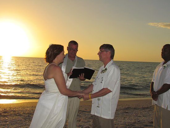 we got married at sunset on Englewood beach.
