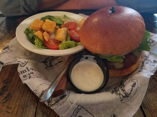 Waukesha, WI: Cool Ranch Burger with a side salad