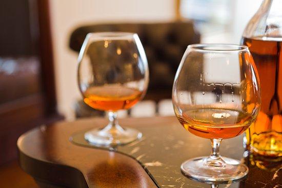 Cognac in the Honesty Bar at Northern Light Inn & Max's Restaurant.