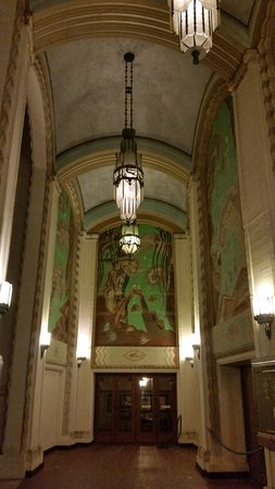 Avalon Theater : The arched porticos and mosaics.